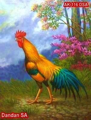 Lukisan Ayam Jago Karya Dandan SA